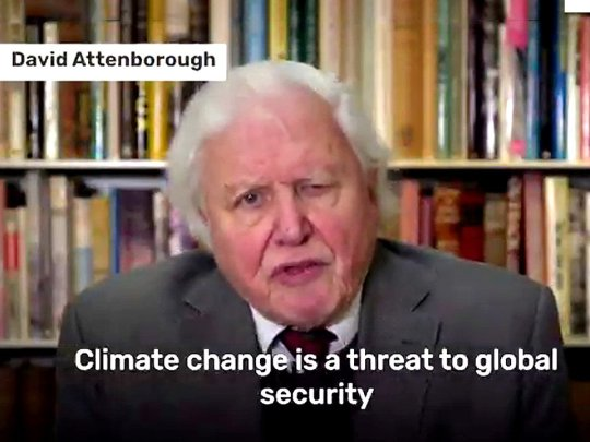Today Sir David Attenborough addresses the first ever UN Security Council meeting on climate security picture: @COP26metrograb