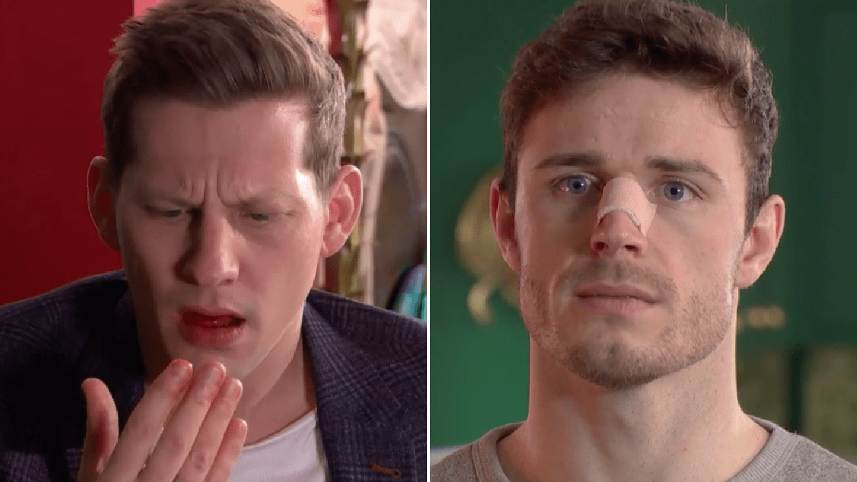 Hollyoaks spoilers: George Kiss makes John Paul McQueen bleed in violent assault