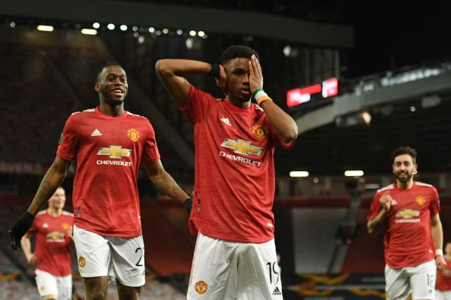 Amad Diallo scored his first goal for Manchester United in the draw with AC Milan