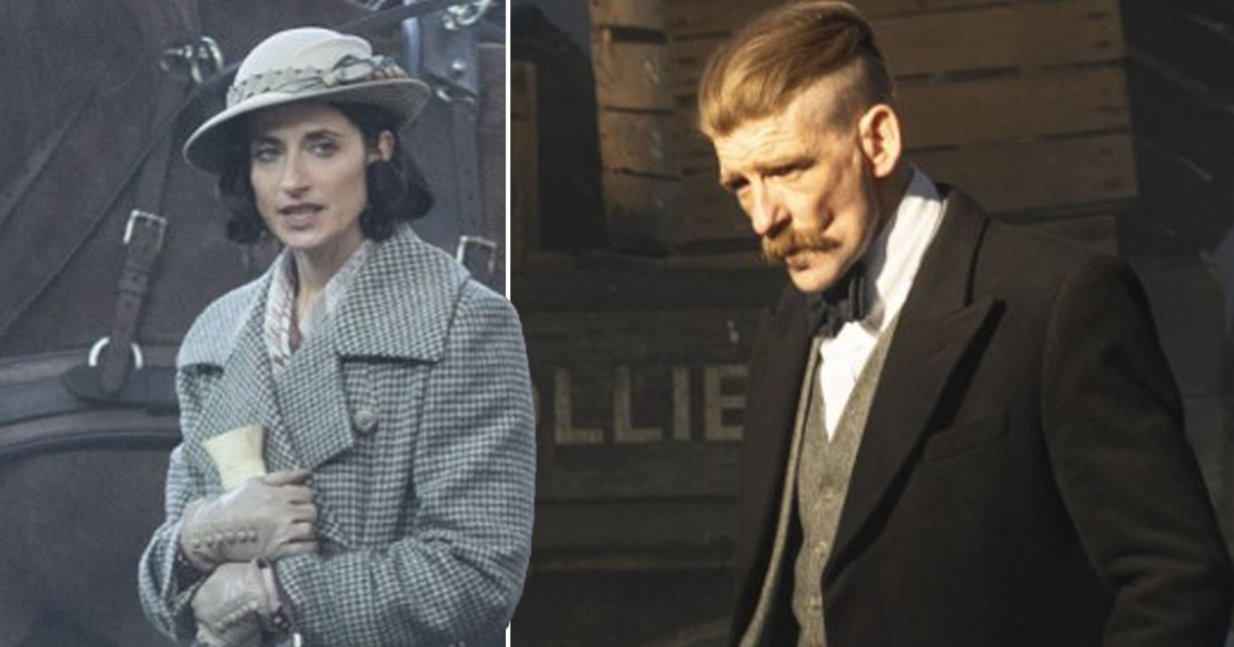 Peaky Blinders stars Paul Anderson and Natasha O'Keeffe spotted filming on the set of season 6