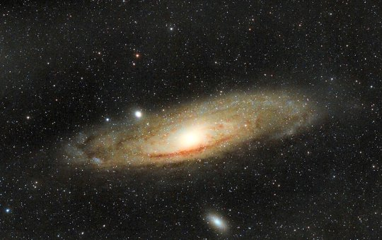 Andromeda Galaxy. Amateur astronomer Russell Atkin from Woodseats, Sheffield, has shared some of his proudest works after photographing incredible space scenes from his own BACK GARDEN since 2017. See SWNS story SWOCastronomer. An amateur UK astronomer has shared some of his proudest works after photographing incredible space scenes from his own BACK GARDEN. Russell Atkin, 52, took up astronomy eight years ago - and has shared some of his most incredible photographs taken from his own back garden.Russell, who lives in Woodseats, Sheffield, said he has been ?fascinated by stars and planets? since childhood and has photographed a range of incredible sights using his high-tech telescopes. The pictures show some of his most eye-catching captures from the past few years - including his own top picks, the stunning Pleiades star cluster and the famous Orion Nebula.