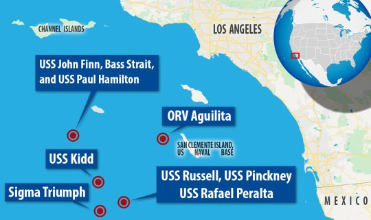 In the most recent documented encounter in July 2019, USS destroyers on patrol were suddenly swarmed by flashing, Tic Toc-shaped drones (MailOnline)
