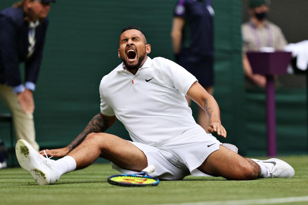 Nick Kyrgios wins five-set Wimbledon thriller despite painful fall   Metro  News