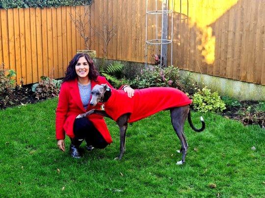 Meera Jethwa and greyhound Theo