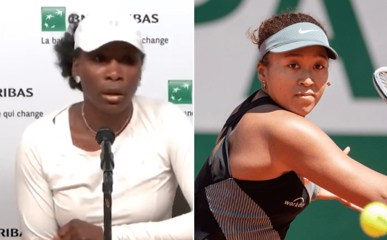 Venus Williams on the left and Naomi Osaka's on the right.