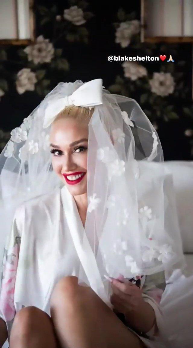 Gwen Stefani on her wedding day