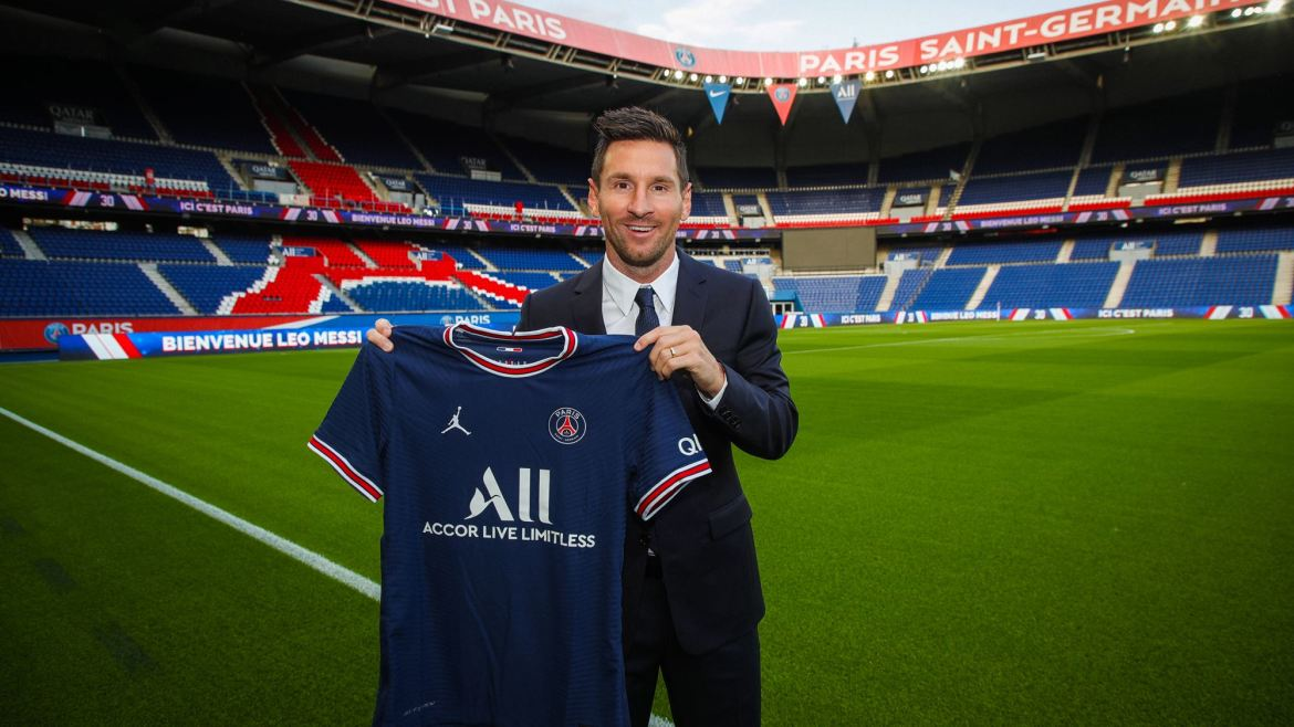 Paris Saint-Germain officially unveil Lionel Messi after agreeing bumper two-year contract