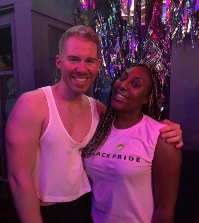 Matt Horwood and his friend Sheneen in a club