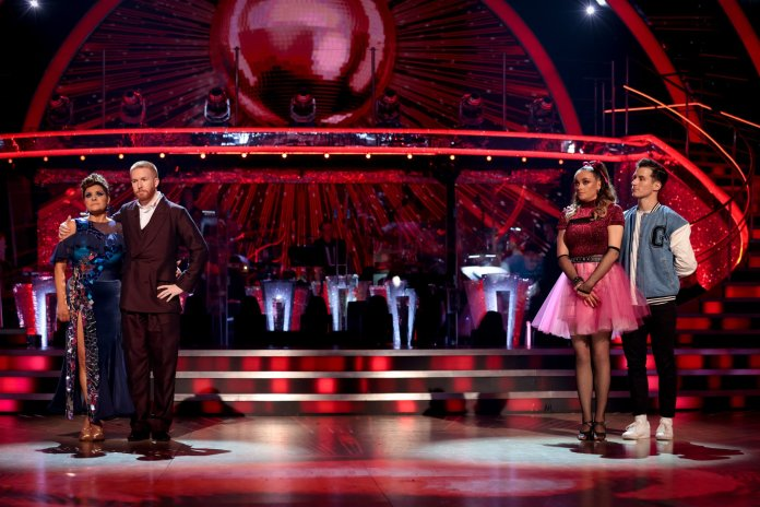 Television programme, Strictly Come Dancing 2021 - TX BBC: 03/10/2021 - Episode: Strictly Come Dancing - TX2 RESULTS SHOW (No. n/a) - Picture Shows: *NOT FOR PUBLICATION UNTIL 20:00hrs, SUNDAY 3RD OCTBER, 2021* Nina Wadia, Neil Jones, Katie McGlynn, Gorka Marquez - (C) BBC - Photographer: Guy Levy