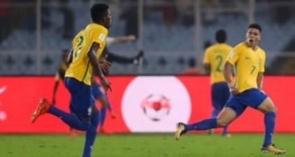 Sub-17: Brasil bate a Alemanha de virada por 2 a 1 e se classifica para semifinal da Copa do Mundo