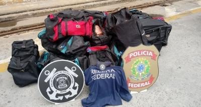 541 kg de cocaína são apreendidas pela Receita Federal no porto de Salvador