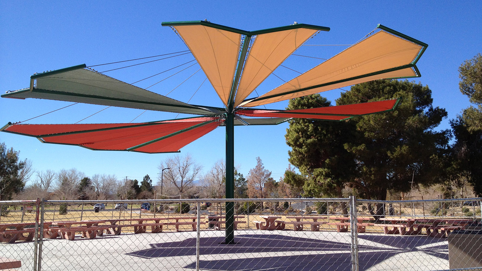 Shade Sail Structural Systems Metro Awnings Las Vegas