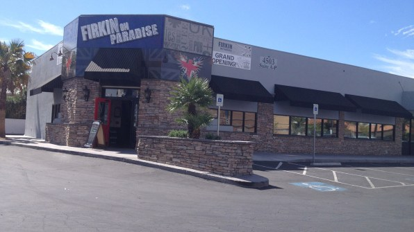 Firkin on Paradise Bar - Commercial Awing System by Metro Awnings of Las Vegas, Nevada