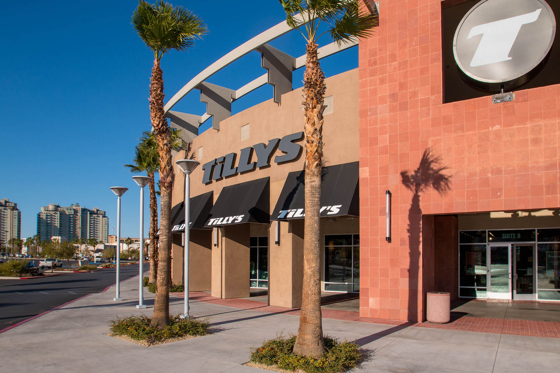 5dbebb4ad2d Tilly s Clothing Store Rampart and Charleston Commercial Awnings - Metro  Awnings of Las Vegas