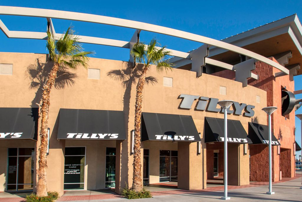Tilly's Clothing Store Rampart and Charleston Commercial Awnings - Metro Awnings of Las Vegas, Nevada