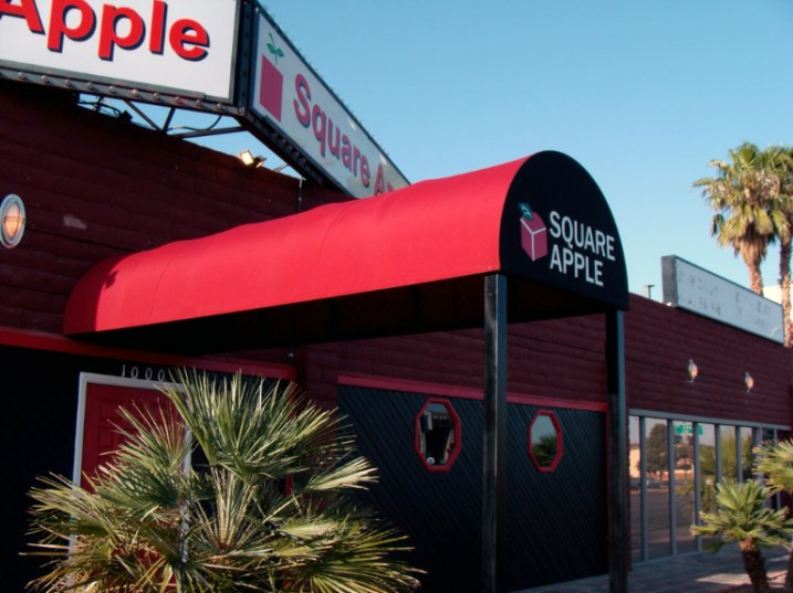 Custom Awning for Square Apple by Metro Awnings & Iron