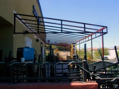 Custom Commercial Shade Structure under Construction - Las Vegas, NV