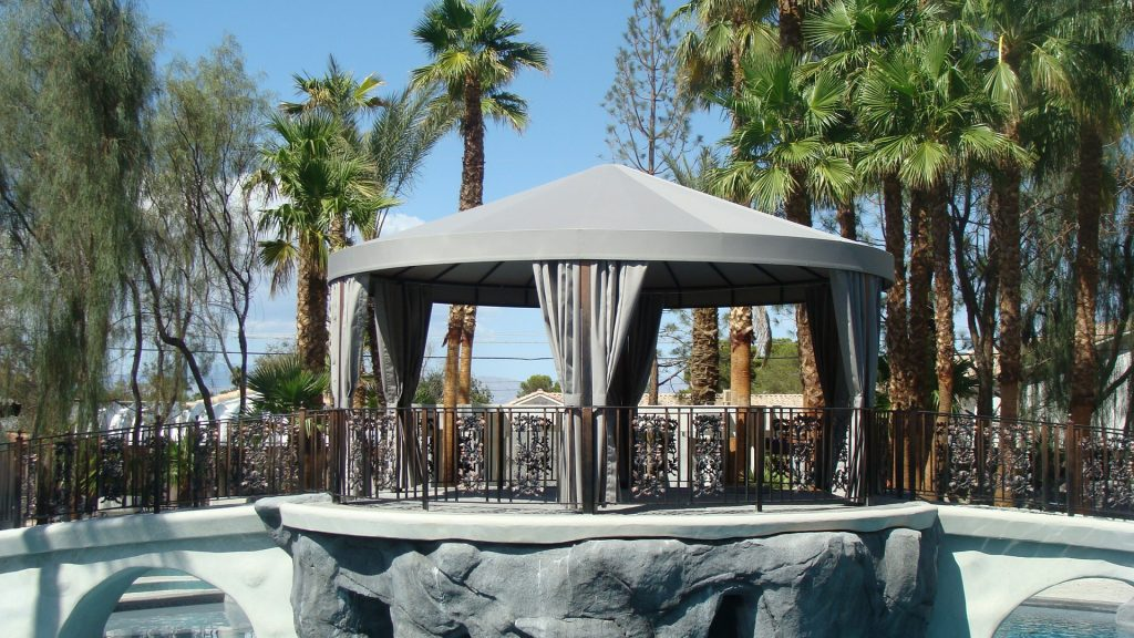 Custom Round Canopy by Metro Awnings & Iron