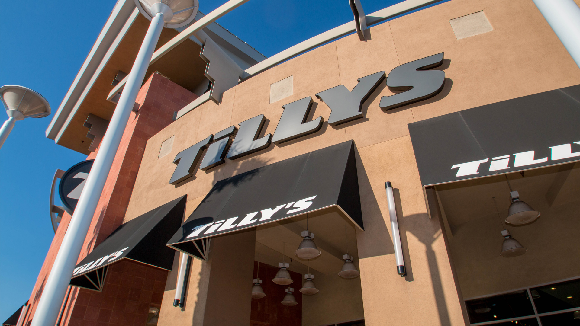 5dc6ea63f79 Black Commercial Awnings Installed at Tilly s Clothing Store by Metro  Awnings of Las Vegas