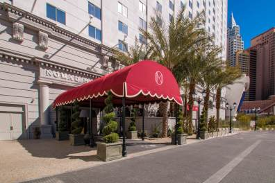 sNoMad Hotel of Park MGM Las Vegas - Entryway Awning Canopy by Metro Awnings