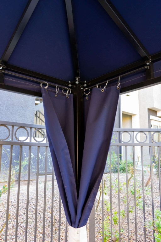 Interior of Custom Poolside Cabanas built by Metro Awnings of Southern Nevada