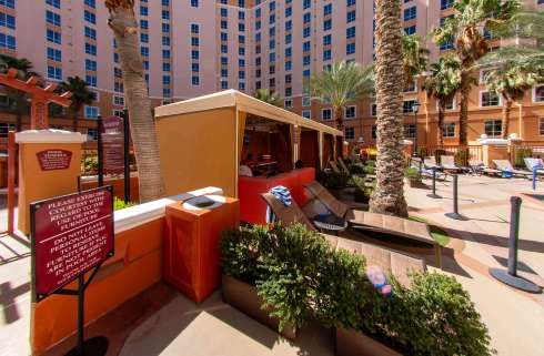 Wyndham Hotel Pool Area in Las Vegas - Cabanas by Metro Awnings