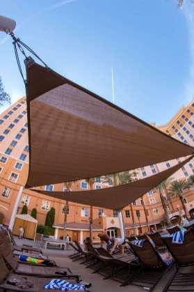 Wyndham Hotel Pool Custom Shade Sail