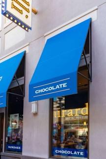 Ghirardelli Ice Cream and Chocolate Shop - Custom Awnings by Metro Awnings of Las Vegas, Nevada