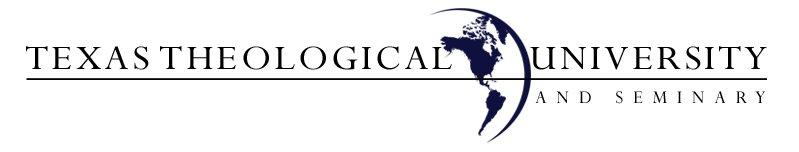 Texas Theological University and Seminary Letterhead