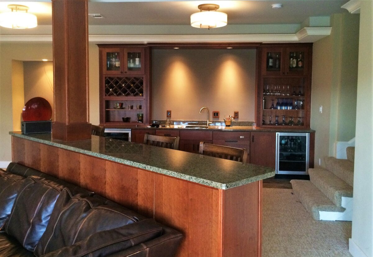 Finished Basements | Free Estimates | Northern VA, MD, DC on Small Wet Bar In Basement  id=12470