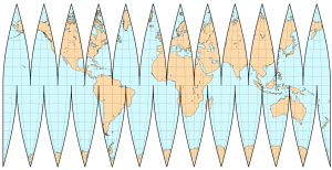Interrupted map projection