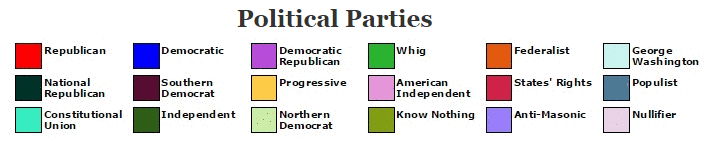 all political parties to win an electoral vote