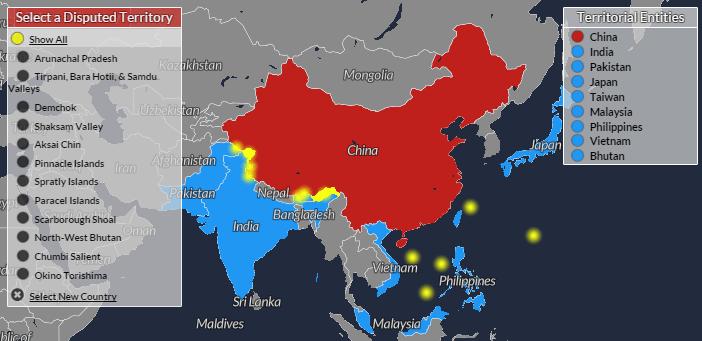 territorial disputes china