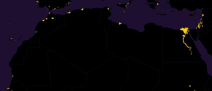 afrique du nord carte de la population