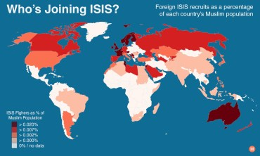 foreign isis fighters by country