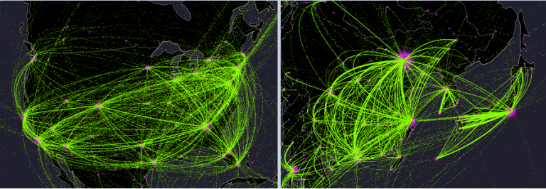 usa china japan air traffic