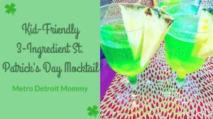 Kid-Friendly 3-Ingredient St. Patrick's Day Mocktail