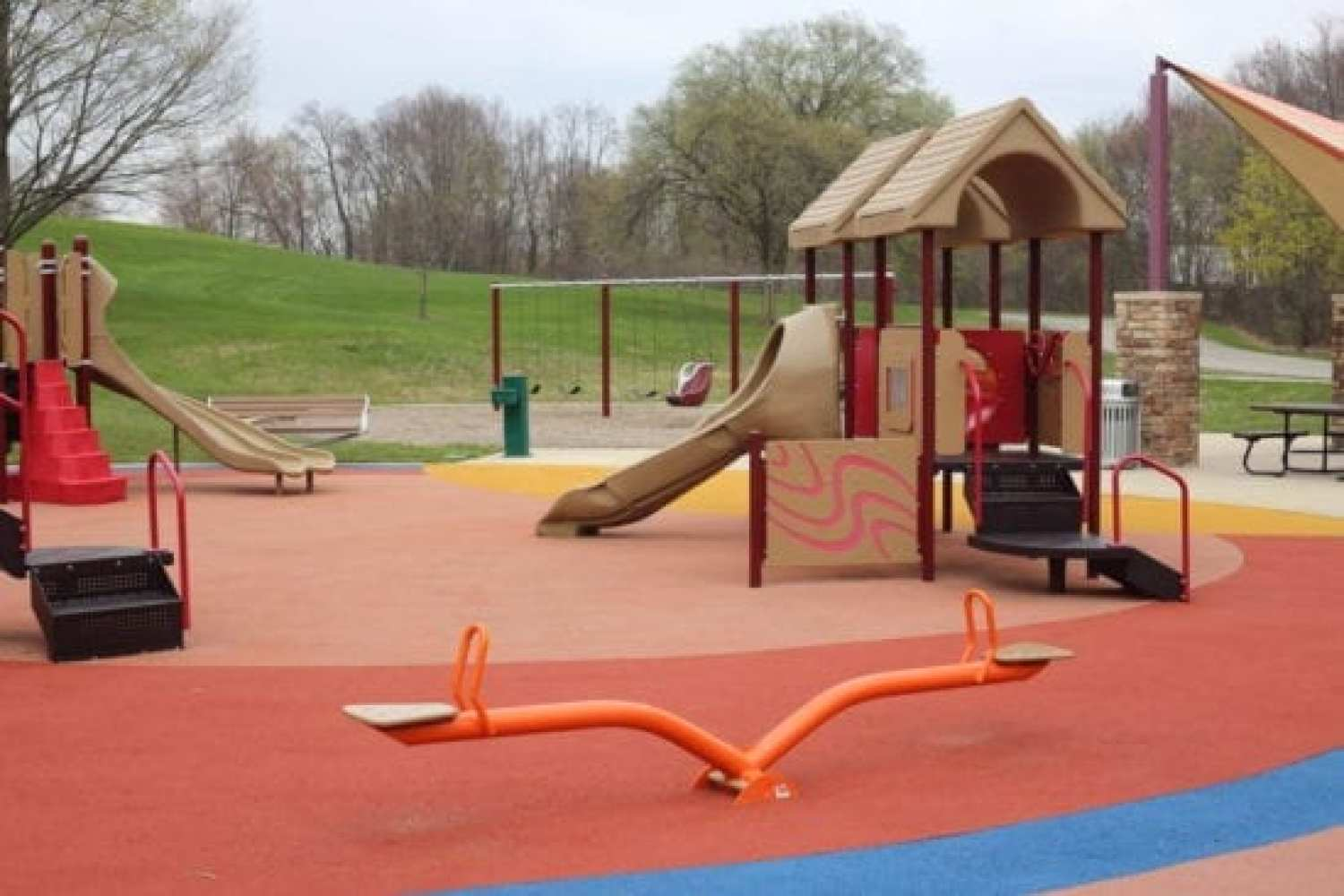 toddler play area at Marshbank Park
