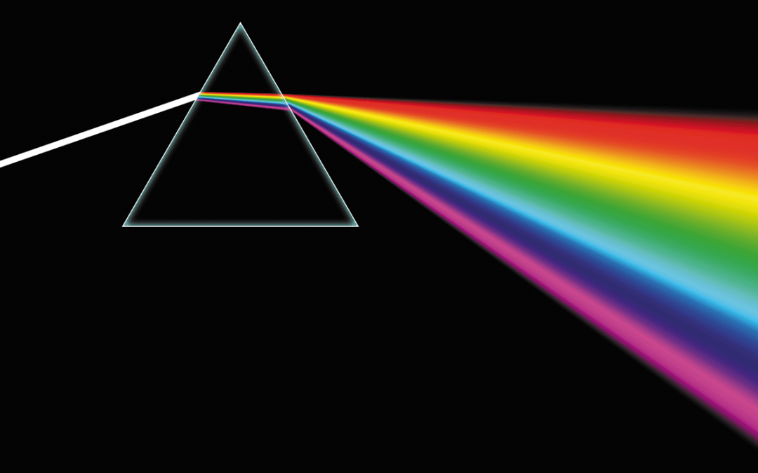 Prism with rainbow spectrum