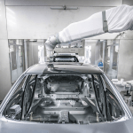 Overspray-Free Two Tone Automotive Painting Measures Up