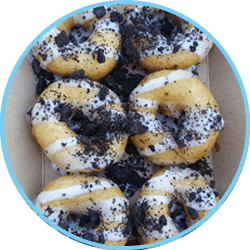 Cookies and Cream Mini Donuts