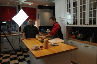 Ron Flaviano (left) and Mitch Lynch in the kitchen