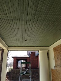 New porch ceiling color