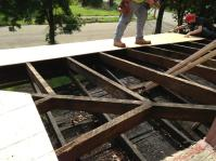 Exposed roof joists