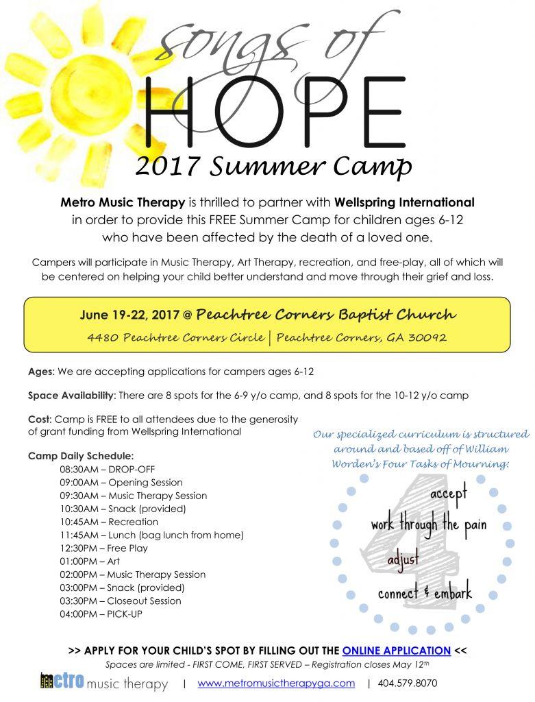 Songs of Hope 2017 Summer Camp