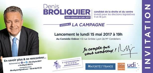 Lancement campagne denis Broliquier