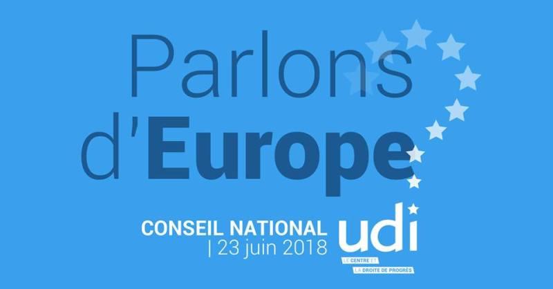 Parlons d'europe Conseil national de l'UDI