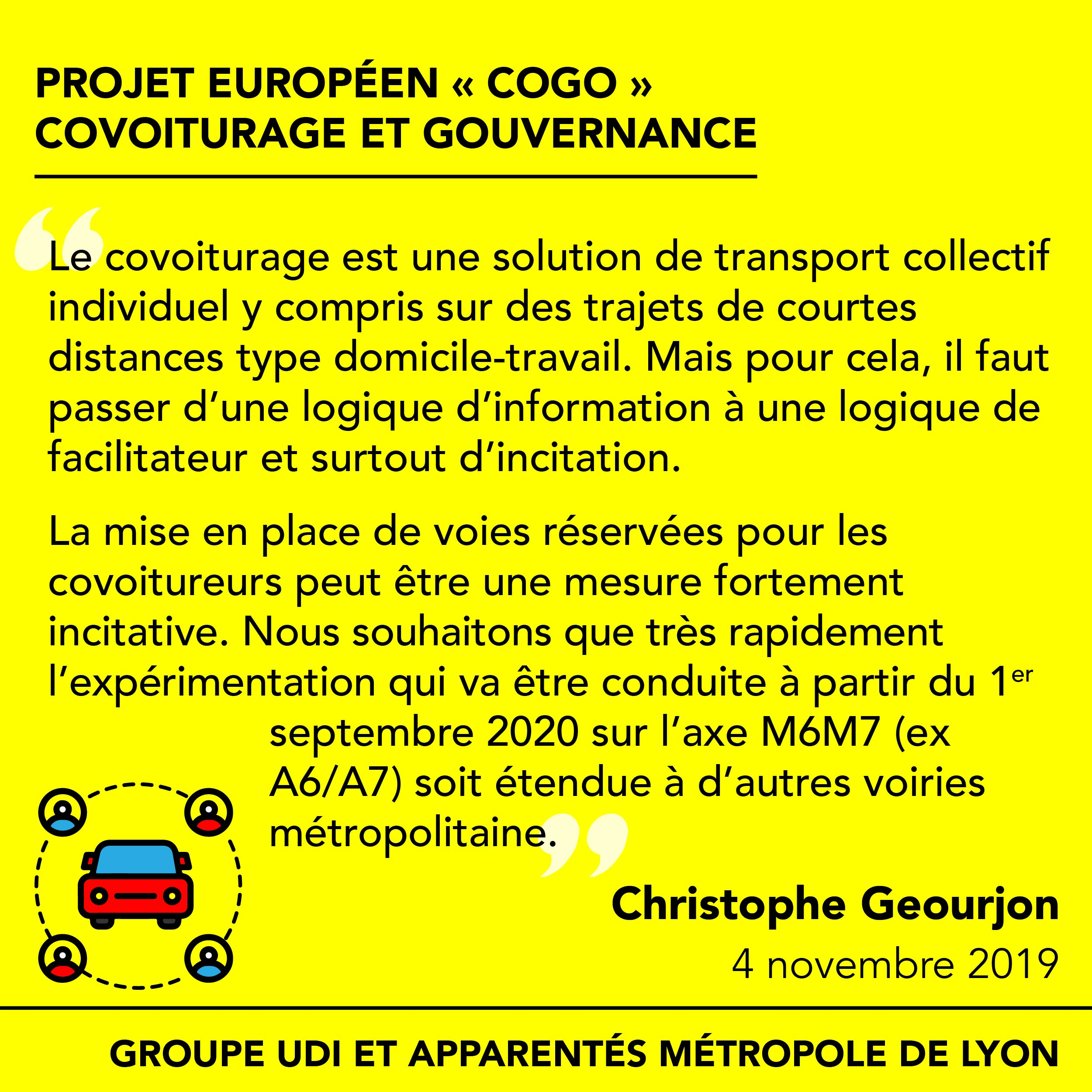 Covoiturage : pour la mise en place de mesures fortement incitatives