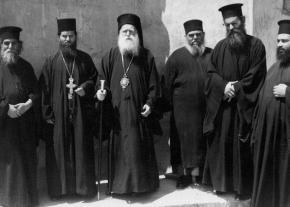 Hrisostom de Florina inpreuna cu unii arhimandriti viitori episcopi