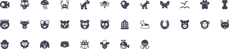 Animals Glyph Icons